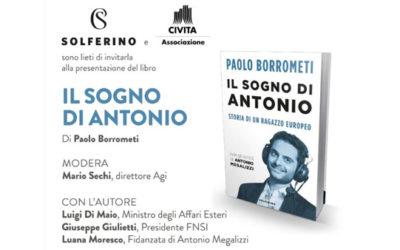"""Presentazione del libro """"Il sogno di Antonio"""" di Paolo Borrometi"""