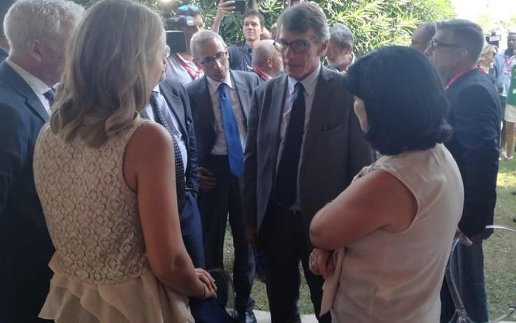David Sassoli incontra la famiglia Megalizzi a Venezia