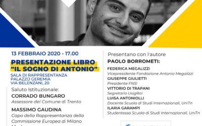 """Presentazione libro """"Il Sogno di Antonio"""" a Trento"""