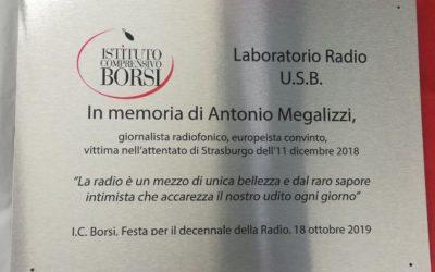 Intitolazione laboratorio webradio scolastico a Antonio Megalizzi dell'I.C. Borsi