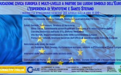 L'educazione civica europea e multi-livello a partire dai luoghi simbolo dell'Europa